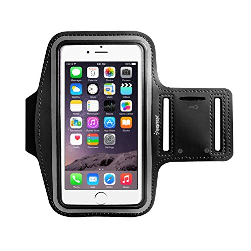 Insten Outdoor Sports Running Armband With Key Holder For Apple iPhone X/8 Plus 7 Plus/6S Plus Samsung Galaxy Note 5/4, LG G5/ G4 (Up to 6.49' x 3.74')-Adjustable Strap Fits 8.5' to 15.5' Arm, Black