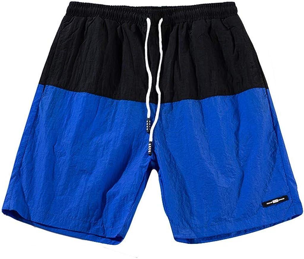 STORTO Mens Hawaiian Solid Trunks Quick Dry Beach Surfing Running Swimming Pockets Board Shorts