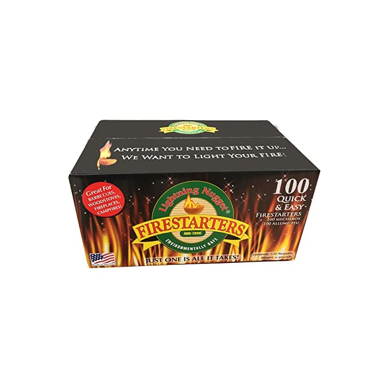 Lightning-Nuggets-N100SEB-Super-Economy-Box-Fire-Starter-100-Count-Tan