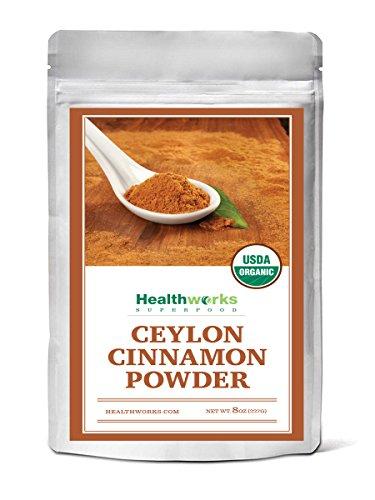 - Healthworks Ceylon Cinnamon Powder Raw Organic, 8oz