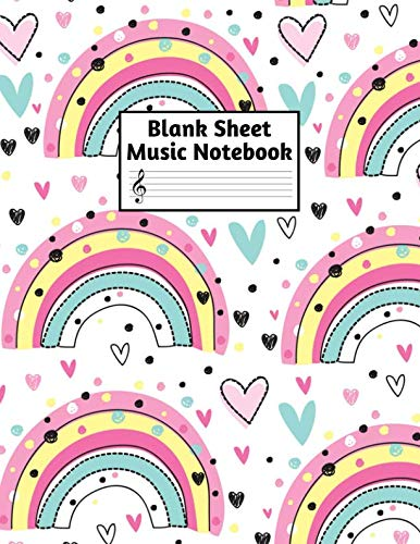 (Blank Sheet Music Notebook: Easy Blank Staff Manuscript Book Large 8.5 X 11 Inches Musician Paper Wide 12 Staves Per Page for Piano, Flute, Violin, ... other Musical Instruments - Code : A4 1308)