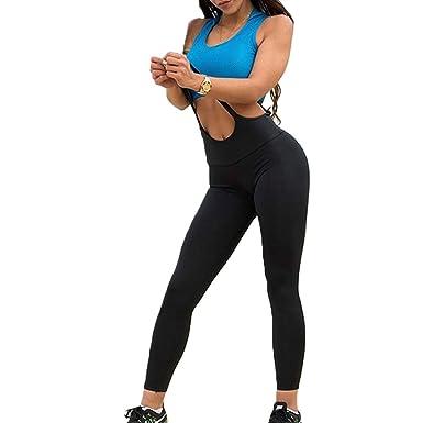 hibote Leggings Mujer Cintura Alta Jumpsuit Pantalones Yoga ...