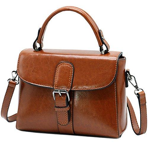 WDBAO Borsa Donna Messenger Coreano Casual Borsa Donna Messenger Bag Spalla Selvaggia Bag Brown