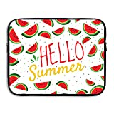 Reteone Laptop Sleeve Bag Hello Summer Watermelon Cover Computer Liner Package Protective Case Waterproof Computer Portable Bags
