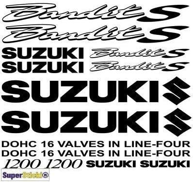30x20cm Aufkleber Bike Auto Racing Tuning aus Hochleistungsfolie Aufkleber Autoaufkleber Tuningaufkleber Hochleist SUPERSTICKI Suzuki 1200 Bandit s Outline Aufkleber A1 Sponsorset 4691 ca