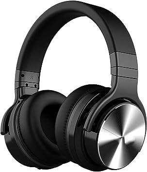 QNSQ - Auriculares inalámbricos con Bluetooth, Auriculares de música Deportivos montados en la Cabeza, Sonido Envolvente de 360°, con una Interfaz de Audio Externa de 3,5 mm: Amazon.es: Electrónica