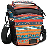 SLR/DSLR Camera Case Bag for Mirrorless , Micro 4/3 with Top Loading Accessibility , Adjustable Shoulder Sling , Padded Handle, Removable Rain Cover & Weather Resistant Bottom by USA Gear - Southwest