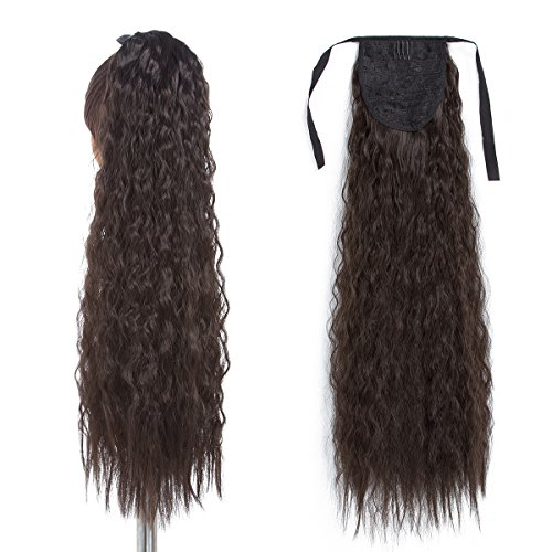 "24"" Long Tie Up Ponytail Hair Extension One Piece Hairpiece"