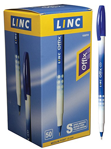 Linc Offix super smooth ball point pen 50 pk - Blue