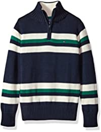 Boys' Long Sleeve Half Zip Pullover Sweater