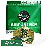 Wrawp Organic Spirulina Veggie Wrap, 5.3 Ounce - 8 per case.
