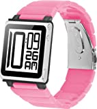 iWatchz Kube Link Band with iWatchz Clip, Solid Pink
