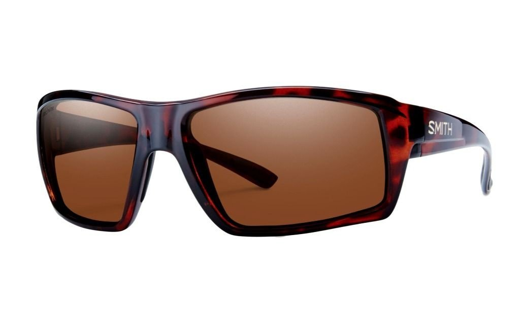 Smith Optics Mens Challis Lifestyle Polarized Sunglasses/Eyewear - Tortoise/Polarchromic Copper Mirror