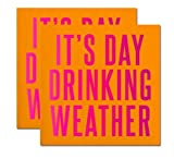 It's Day Drinking Weather! Pink and Orange Party Napkins (2 Sets of 20 Ct) - ...
