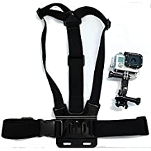 Navitech Adjustable Elastic Body Chest Strap Mount Belt Harness For The Panasonic HX-A1ME-D Ultracompact, Lightweight and Tough Wearable Full HD Camcorder