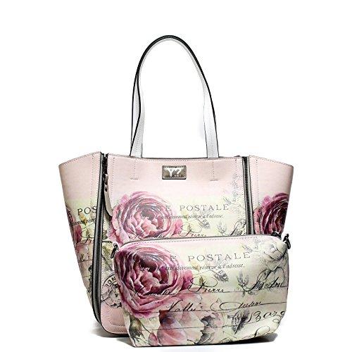 YNOT K46 E17 Borsa donna shopping reverse VARIE FANTASIE (PEO C4)