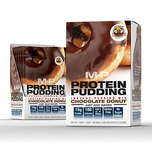 Mhp Instant Protein Pudding Mix, Chocolate Donut, 6 Count by Maximum Human Performance