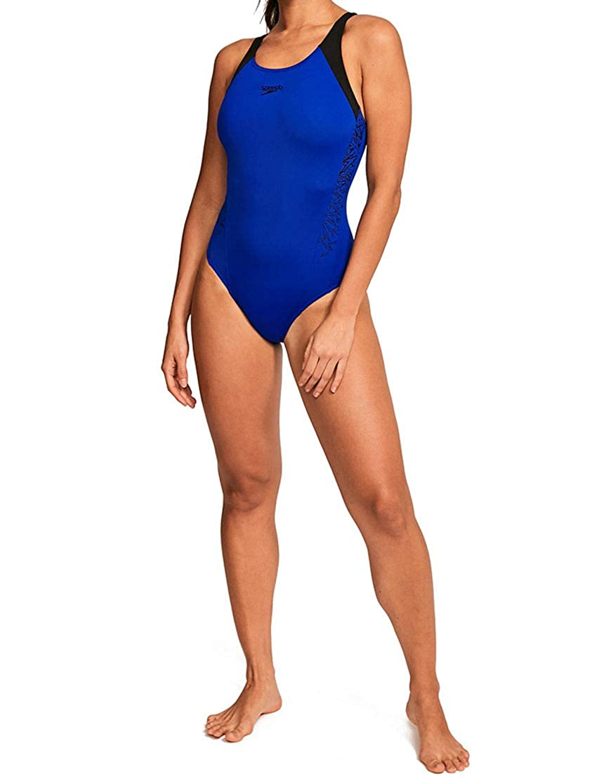 Speedo Womens Boom Splice Muscleback Swimsuit