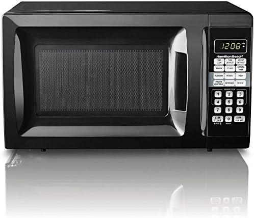 HB 700 Watt Microwave.7 cubic foot capacity (Red)
