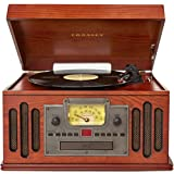 crosley turntable cd mp3 - Crosley CR704C-PA Musician Turntable with Radio, CD Player, Cassette and Aux-In, Paprika