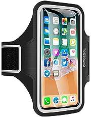 جراب حزام الذراع الرياضي للركض والركض لصالة الألعاب الرياضية مع حزام ذراع للهواتف المحمولة، أسود