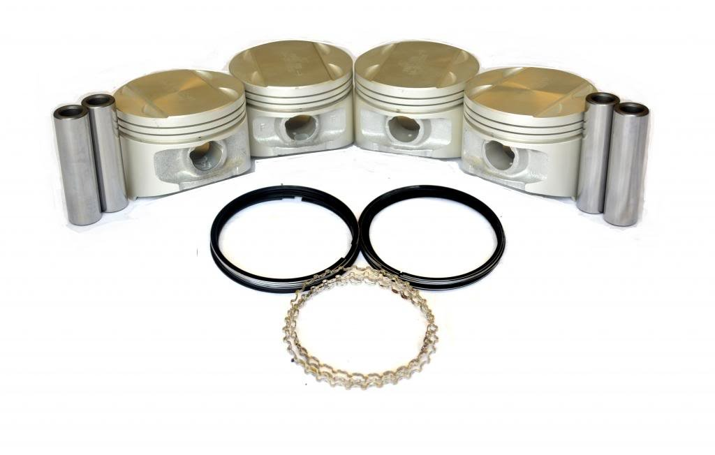 Diamond Power Pistons w/Rings works with Mitsubishi Eclipse 2.0L DOHC
