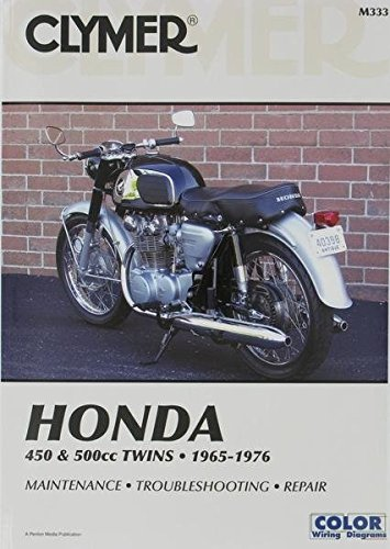 amazon com clymer repair manual for honda cb cl 450 500 65 77 rh amazon com 1976 Honda Bobber CB550 Frame
