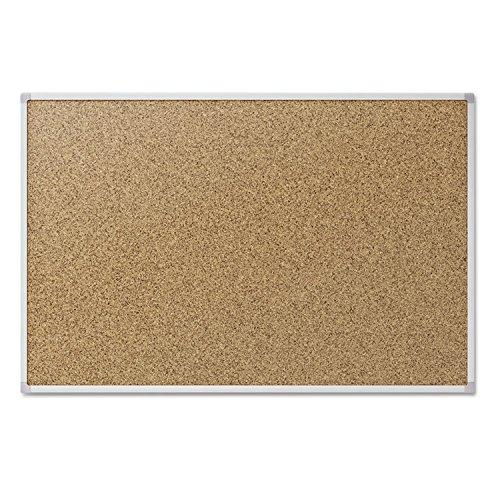 Quartet S734 Cork Bulletin Board, 48 inches x 36 inches, Aluminum Frame, One Board per Order
