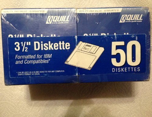 3 1/2'' Diskette - 50 Pac by Quill 66