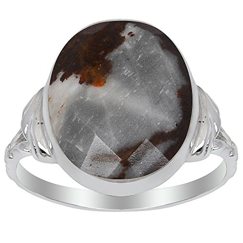 Orchid Jewelry Outback Jasper Sterling Silver Ring (16X12MM Oval)