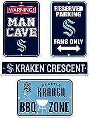 Seattle Kraken Fan Four Pack Sign Set