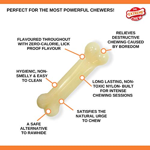 Nylabone Classic Power Chew Flavored Durable Dog Chew Toy, Original, 1 Count, Giant, Large/Giant - Up to 50 lbs. (NG104P)