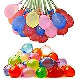 لعبة لديكور الحفلات من الكرات القابلة للنفخ التي تملأ بالماء والبالونات المائية عدد 111 قطعة في الكيس - حزمة