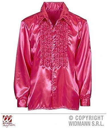 Camisa Con Volantes en Fucsia/diskohemd/Camiseta Hombre/satinhemd/década de los 70 AÑOS Traje Talla XXL: Amazon.es: Juguetes y juegos