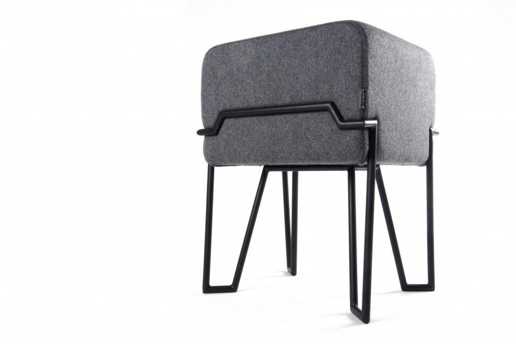 Puik - Bokk Hocker H 52 cm, schwarz grau