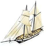 Aissimio 1:130 DIY Ship Assembly Model Kits Classical Wooden Sailing Boat Scale Model Decoration 380x130x270mm