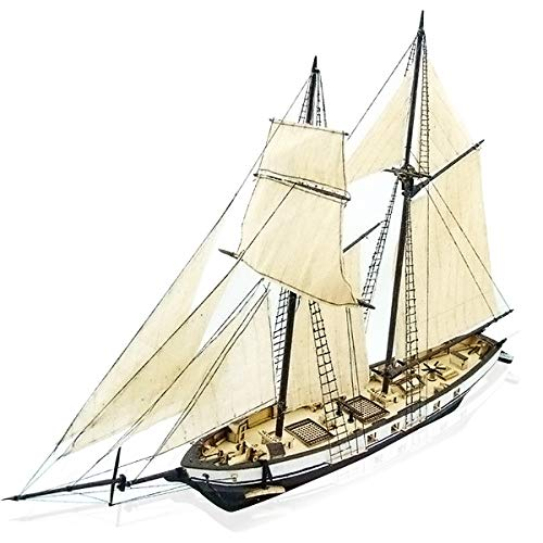 CAVEEN 1:130 DIY Ship Assembly Model Kits Classical Wooden Sailing Boat Scale Model Decoration 380x130x270mm -