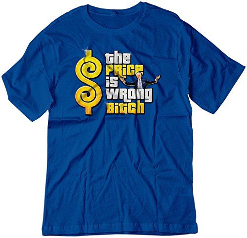 BSW Men's The Price is Wrong Bob Barker Happy Gilmore Shirt 3XL Royal Blue