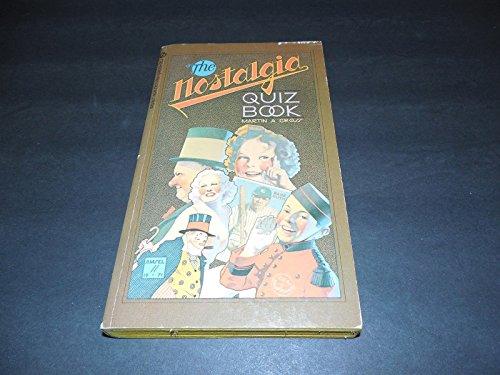The Nostalgia Quiz Book pb Martin Gross 1st Printing November 1971 Signet