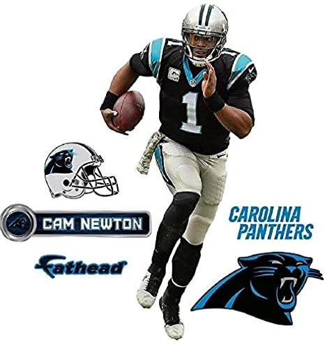 finest selection 2ad1b f6b0c Cam Newton FATHEAD Carolina Panthers Official NFL Vinyl Wall Graphic 16