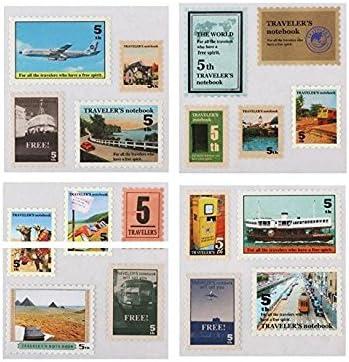 UChic 18 Pieces//Set Vintage Post Stamps Decorative Stickers Creative Nostalgia Diary Handbag DIY Decoration Travel Stamp Sticker