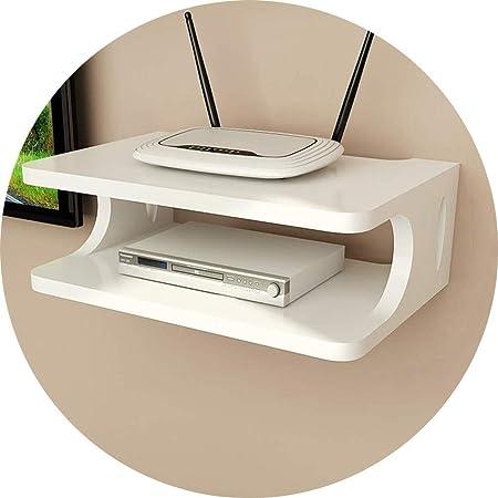 HYBUKDP Carga de la Caja del Organizador del Cable en la Oficina WiFi Pared Rejilla de Alambre Enchufe Estante montado en casa (Color : White): Amazon.es: Hogar