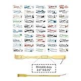 "BambooMN Brand - 100 Pieces 18.5"" Bamboo Backscratcher With Love Series of 50 States, West Virgina + 1 Free Travel Size Backscratcher"