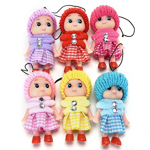 Mini Rabbit Mobile Phone - S&M TREADE-5 Pcs Kids Toys Soft Interactive Baby Toy Mini Doll Mobile Phone Accessory WS