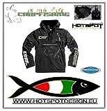 Carpfishing Jacket waterproof, black Size: XXL