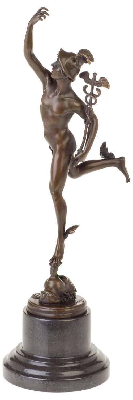 Aubaho Bronzeskulptur Gott Hermes Merkur nach nach nach Giambologna Skulptur Antik-Stil Replik 0bad83