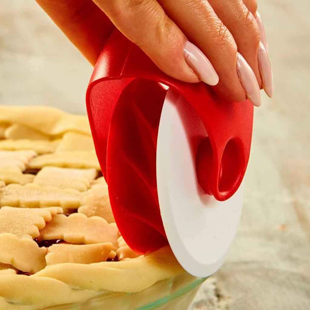 Pizza Wheel Rolling, Matoen Pizza Pastry Lattice Cutter Pastry Pie Decoration Cutter Plastic Wheel Roller (A)