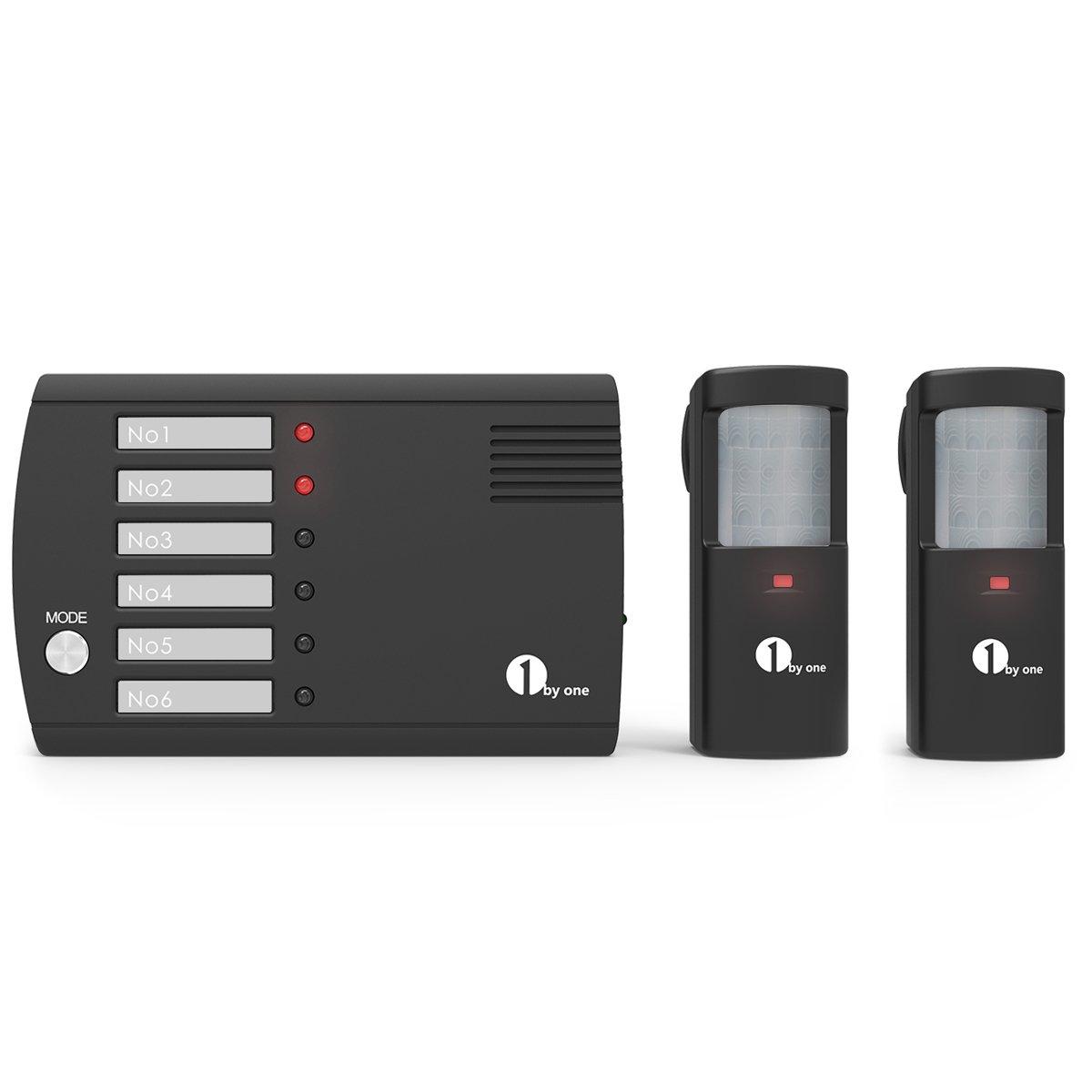 1byone inalámbrico sistema de alerta con 2 sensores de movimiento, alertas en cualquier lugar dentro de su casa, color negro ¡: Amazon.es: Electrónica