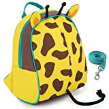 Yodo Kids Insulated Toddler Backpack with Safety Harness Leash and Name Label - Playful Preschool Kids Lunch Bag, Giraffe