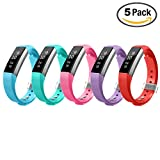 Fitbit Alta Bands,Greeninsync(TM) Class Textured Finish Fitbit Alta Accessory Replacement Bands Large 10 set W Metal Clasp Unique Design Fatener for Man Women Kids